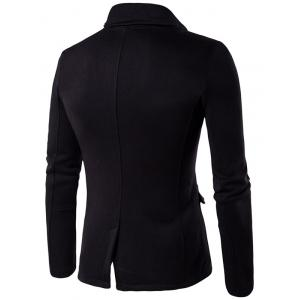 Asymmetrical Zip Up Panel Jacket - BLACK 2XL