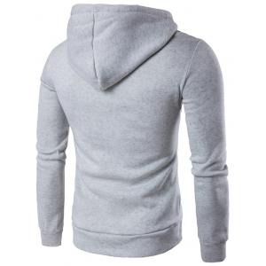 Kangaroo Pocket Design Pullover Hoodie - LIGHT GRAY 2XL