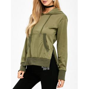 High Low Kangaroo Pocket Hoodie