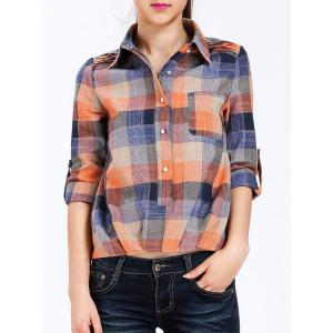 Pocket Pullover Plaid Shirt
