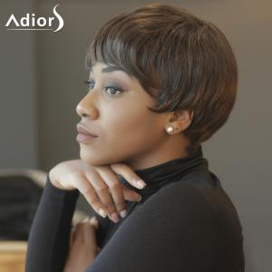 Spiffy Short Capless Straight Inclined Bang Synthetic Wig -