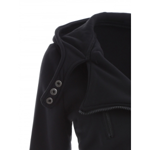 Inclined Cotton Zip Up Hoodie -