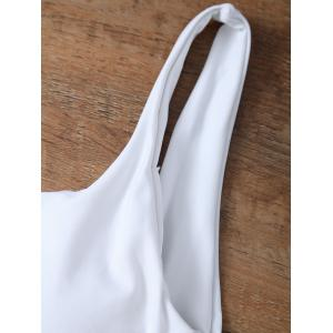 High Cut Backless Unlined One Piece Swimwear - WHITE S
