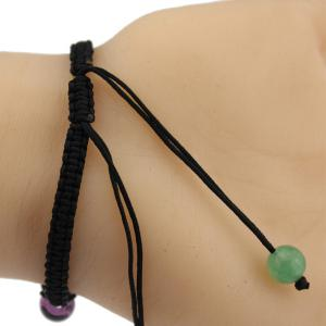 Braid Natural Stone Beads Bracelet - BLACK