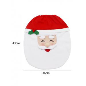 3PCS Christmas Supplies Santa Bathroom Toilet Closestool Cover Floor Mats -