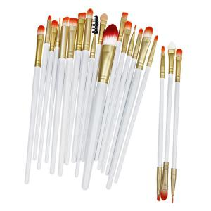 20 Pcs Fiber Eye Makeup Brushes Set