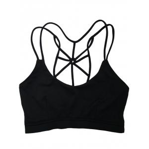 Spaghetti Strap Criss Cross Padded Sports Bra -