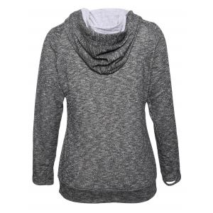 String Pullover Hoodie With Pocket -