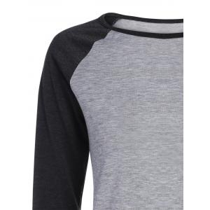 Raglan Sleeves T-Shirt - GRAY ONE SIZE