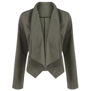 Open Front Shawl Collar Blazer - Hampton Green - Xl