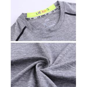 Color Block Spliced Colorful Graphic Print Long Sleeve T-Shirt -