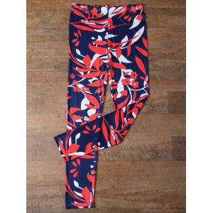 Elastic Waist Flower Leggings