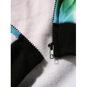 Bamboo 3D Printed Zip Up Hoodie - COLORMIX 5XL