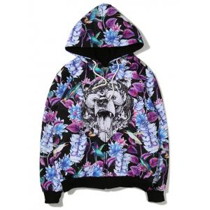 Leaves Animal 3D Printed Zip Up Hoodie
