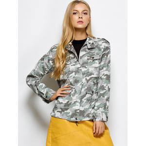 Camouflage Field Jacket - CAMOUFLAGE COLOR 2XL