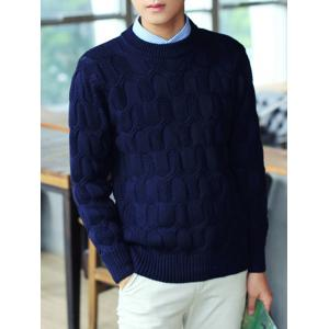 Long Sleeve Crew Neck Texture Sweater
