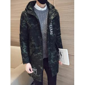 Camo Zip Up Pocket Hooded Padded Coat