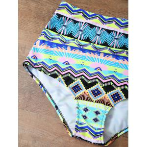Crochet High Waisted Bikini Set - MULTICOLOR XL