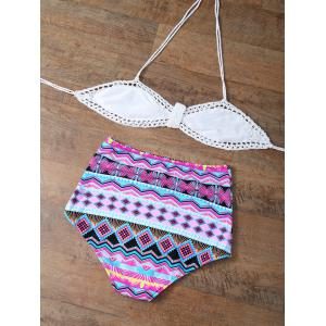 High Waisted Multiway Crochet Halter Bikini -
