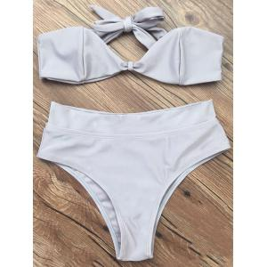 Bandeau High Waisted Thong Bikini