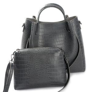 Embossed Metal PU Leather Tote Bag