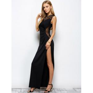 Formal Slit Openwork Maxi Evening Prom Dress -