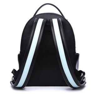 PU Leather Cartoon Print Tassel Backpack -
