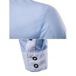 Contrast Collar Back Pleat Button Down Shirt -