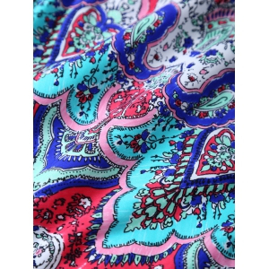 Printed Underwire One Piece Swimsuit -