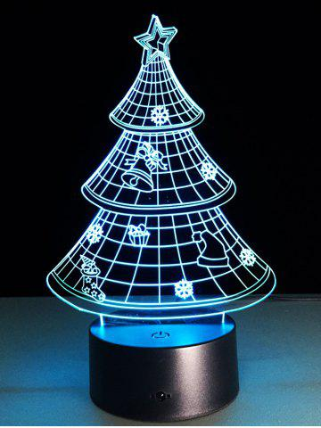 Store Funny 3D Christmas Tree Shape Touch Colorful Night Light - TRANSPARENT  Mobile