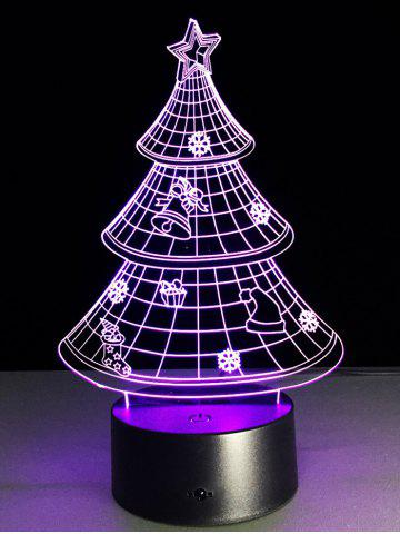 Online Funny 3D Christmas Tree Shape Touch Colorful Night Light - TRANSPARENT  Mobile