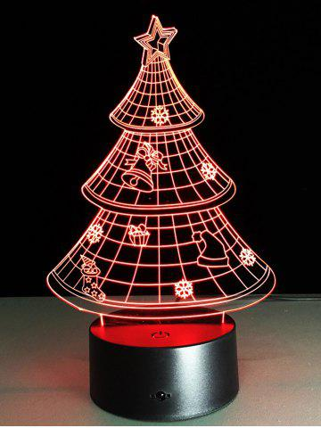 Latest Funny 3D Christmas Tree Shape Touch Colorful Night Light - TRANSPARENT  Mobile