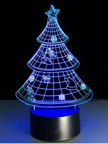Sale Funny 3D Christmas Tree Shape Touch Colorful Night Light - TRANSPARENT  Mobile