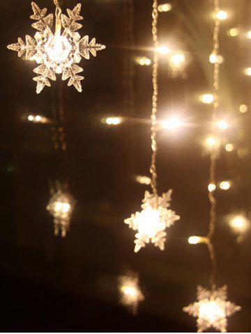Fashion Christmas Indoor Decor Snowflake Pendant LED String Light