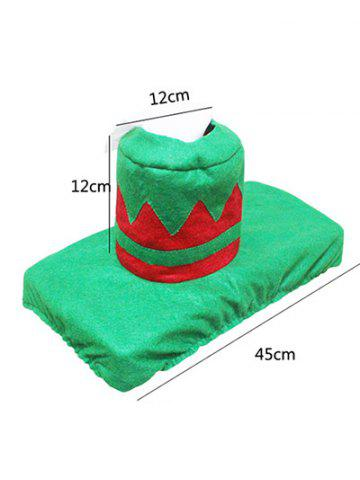Online 3PCS Christmas Supplies Bathroom Toilet Closestool Cover Floor Mats - RED AND GREEN  Mobile