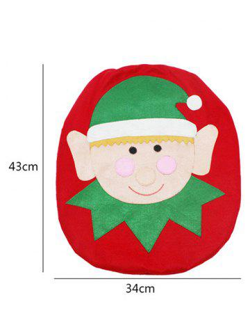 Shops 3PCS Christmas Supplies Bathroom Toilet Closestool Cover Floor Mats - RED AND GREEN  Mobile