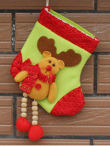 Unique Merry Christmas Decoration Deer Pattern Hanging Santa Present Sock