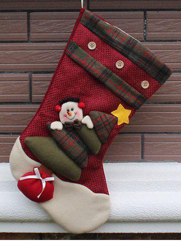 Unique Snowman Hanging Kids Present Sock Christmas Decoration RED