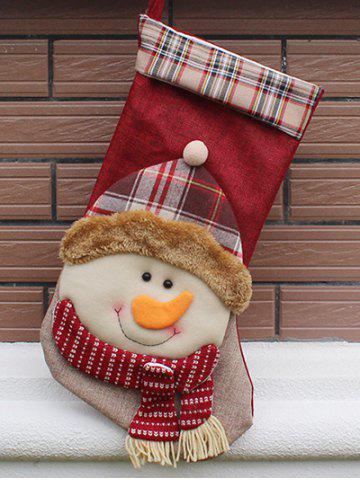 Christmas Snowman Hanging Stocking Decoration Present Bag Sock - Colormix - One Size