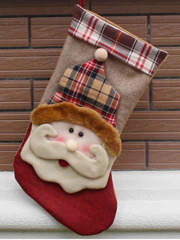 Christmas Santa Hanging Stocking Decoration Present Bag Sock - Colormix - One Size