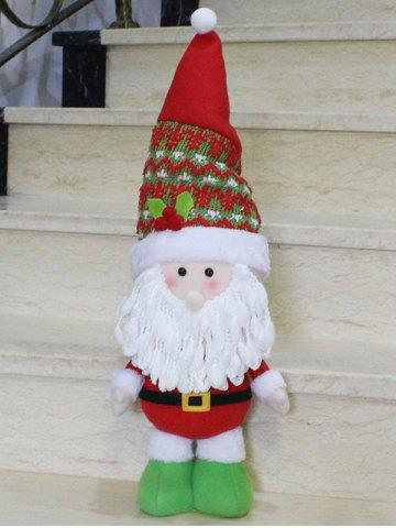 Affordable Christmas Gift Standing Santa Claus Doll Xmas Decoration - RED WITH WHITE  Mobile