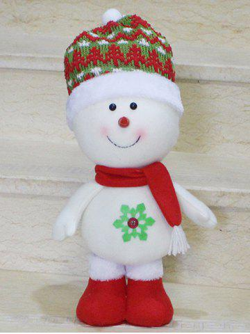 Online Cut Standing Snowman Doll Toy Xmas Decoration Best Gift RED/WHITE