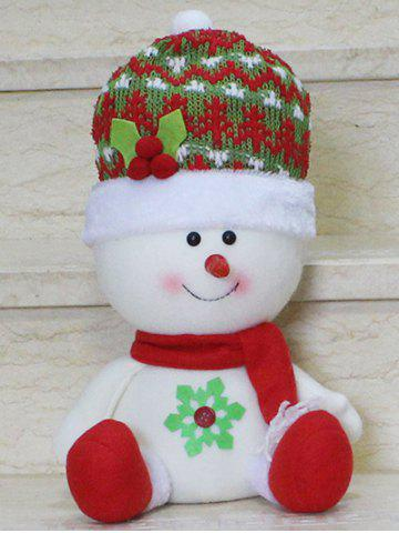 Outfit Christmas Gift Sitting Snowman Doll Xmas Decoration RED/WHITE