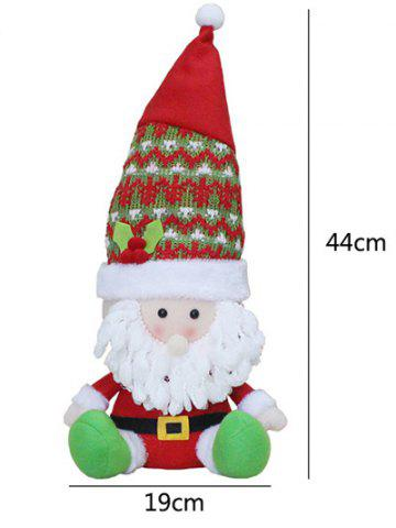 Outfit Christmas Gift Sitting Santa Claus Doll Xmas Decoration - RED WITH WHITE  Mobile