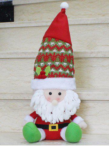 Shop Christmas Gift Sitting Santa Claus Doll Xmas Decoration - RED WITH WHITE  Mobile