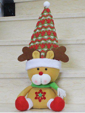 Trendy Christmas Sitting Elk Doll Party Decoration YELLOW