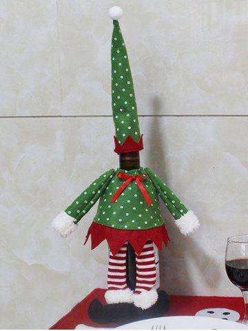 New Christmas Dot Clothes Design Wine Bottle Cover Bag GREEN