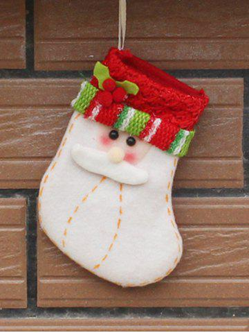 Cheap Christmas Santa Xmas Tree Decor Hanging Present Bag Sock RED WITH WHITE