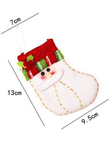 Outfit Christmas Santa Xmas Tree Decor Hanging Present Bag Sock - RED WITH WHITE  Mobile