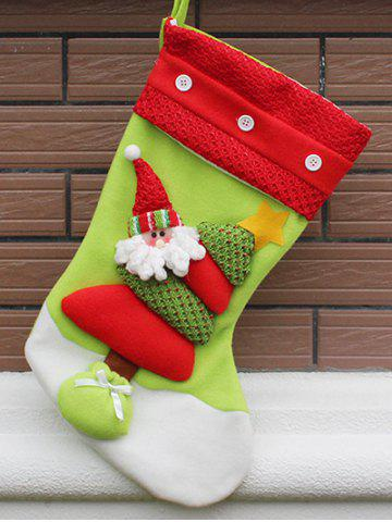 Discount Xmas Tree Decor Santa Hanging Christmas Gift Stocking Bag RED AND GREEN